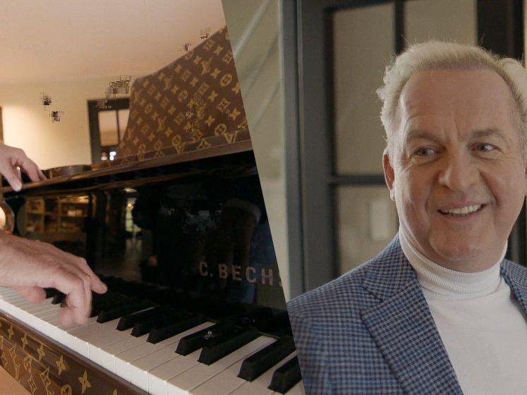 Welke celebrity heeft een piano van Louis Vuitton in zijn huis staan?