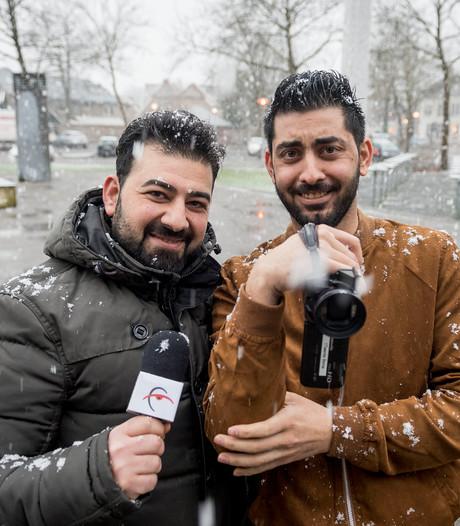 Vluchtelingen achter de camera van RTV Borne