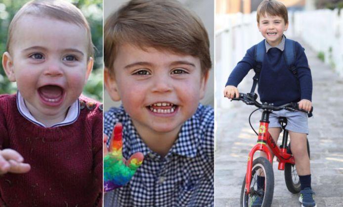 Prins Louis op zijn eerste, tweede en derde verjaardag.