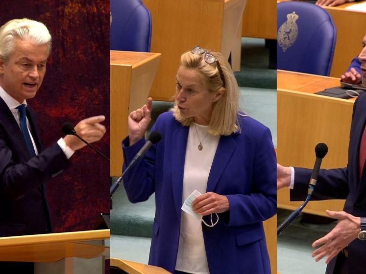 Wilders haalt woede van Hoekstra en Kaag op de hals