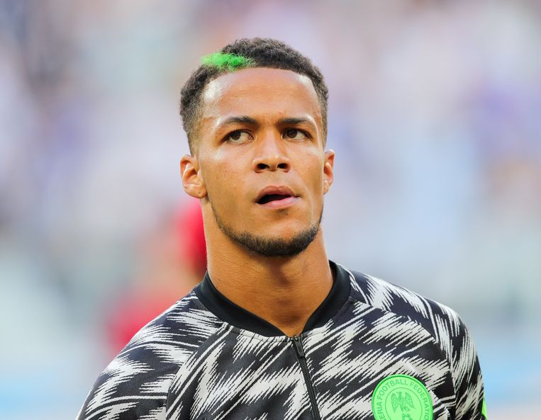 Winnaar van subtiele buitennissigheid en patriottisme: de groene streep in het haar van de William Troost-Ekong. Beeld Getty Images