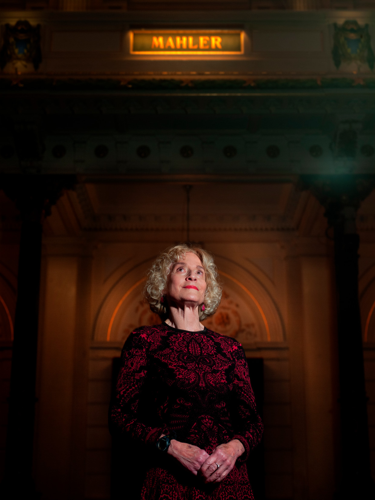 Martha Nussbaum in het Concertgebouw in Amsterdam.