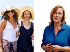 Vrouwen op het strand, doeken bij de hand