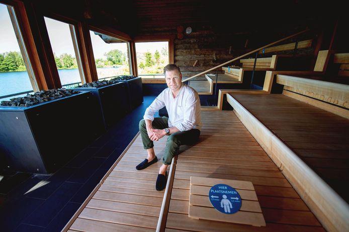Fabian Dolman van de Thermen Berendonck, was in juni 2020 blij dat de sauna's weer open mochten. Na drie maanden moesten ze toen weer dicht.