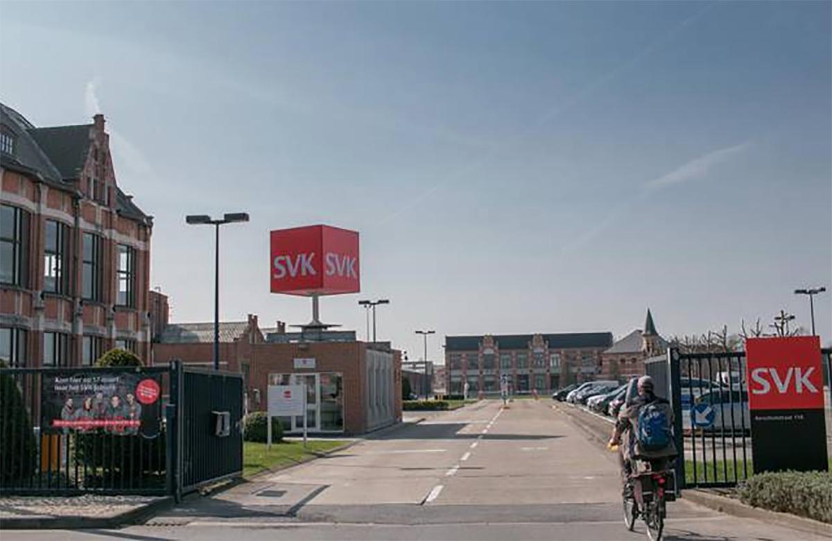 De firma SVK aan het Westerplein.