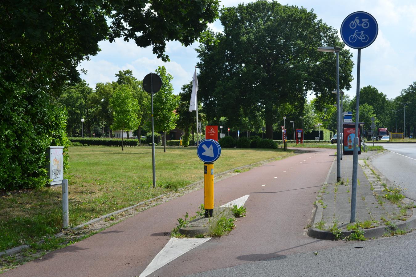 Het fietspad van de Rijsbergseweg in Breda, waar het meisje is vastgegrepen.
