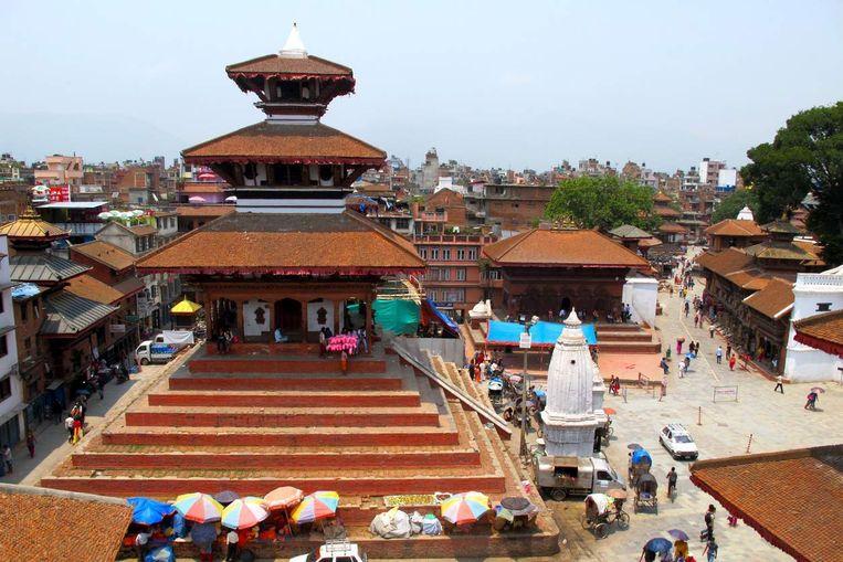 De tempel van Maju Deval voor de aardbeving. Beeld rv