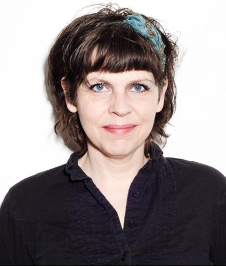 Partijvoorzitster en -medestichter Birgitta Jónsdóttir. Beeld kos