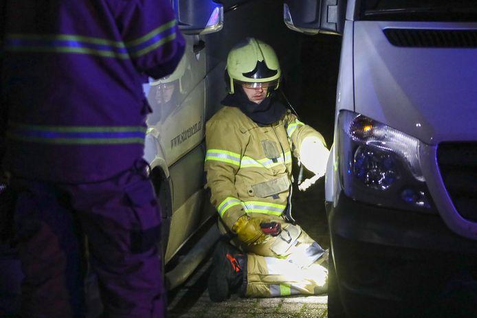Poging brandstichting bestelbussen in Oss.