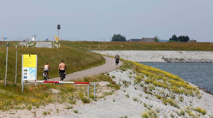 De zeedijk bij Perkpolder.