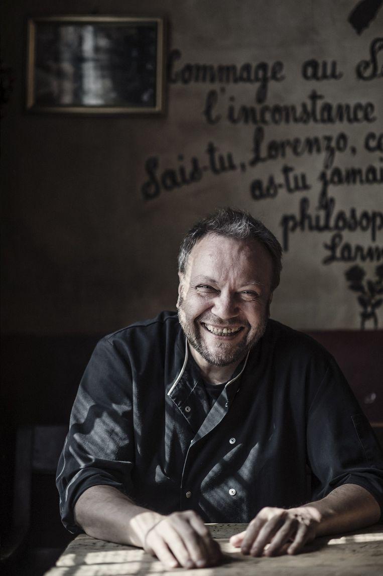 Luc Govers, kok van Het Goudblommeke Beeld Karoly Effenberger