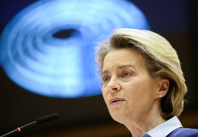Ursula von der Leyen, voorzitter van de Europese Commissie.