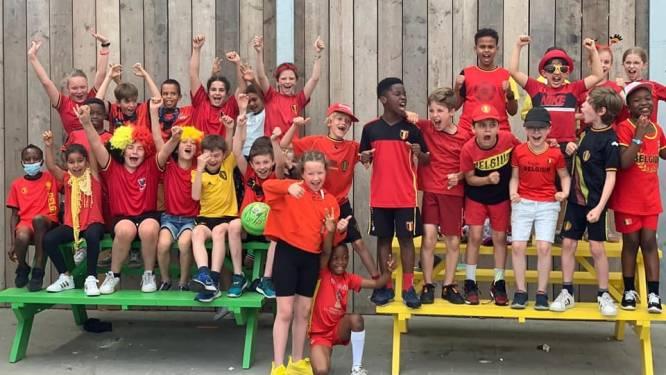 Rode Duivels-gekte slaat toe: leerlingen in zwart, geel en rood naar school