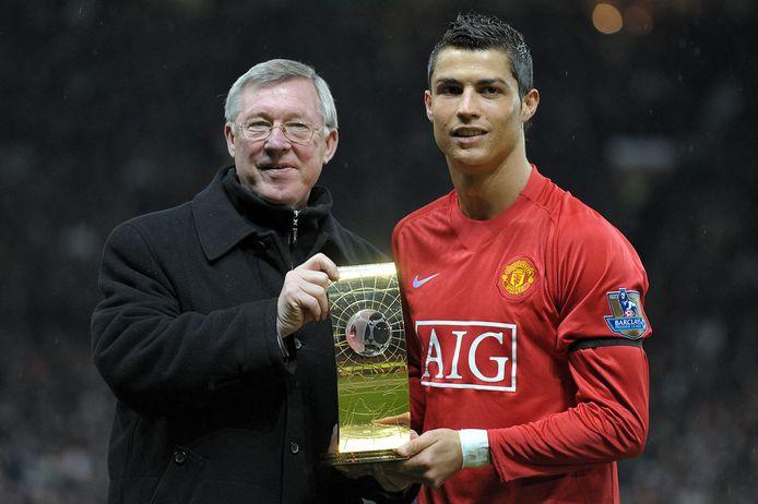 Cristiano Ronaldo met Sir Alex Ferguson in 2009.