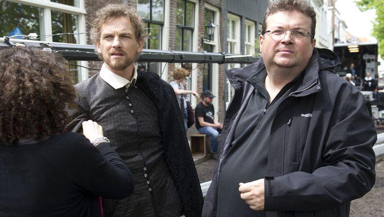 Regisseur Roel Reine (rechts op de foto) op de set van speelfilm Michiel de Ruyter. Beeld anp