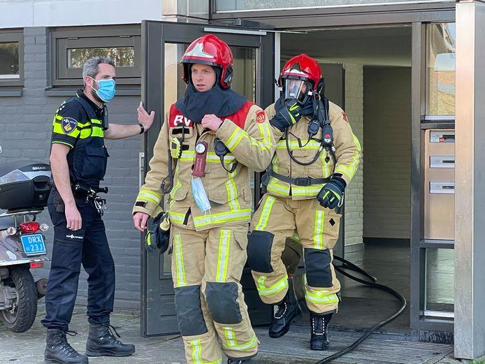 Woningbrand in flat aan de Nijverheidslaan in Veldhoven.