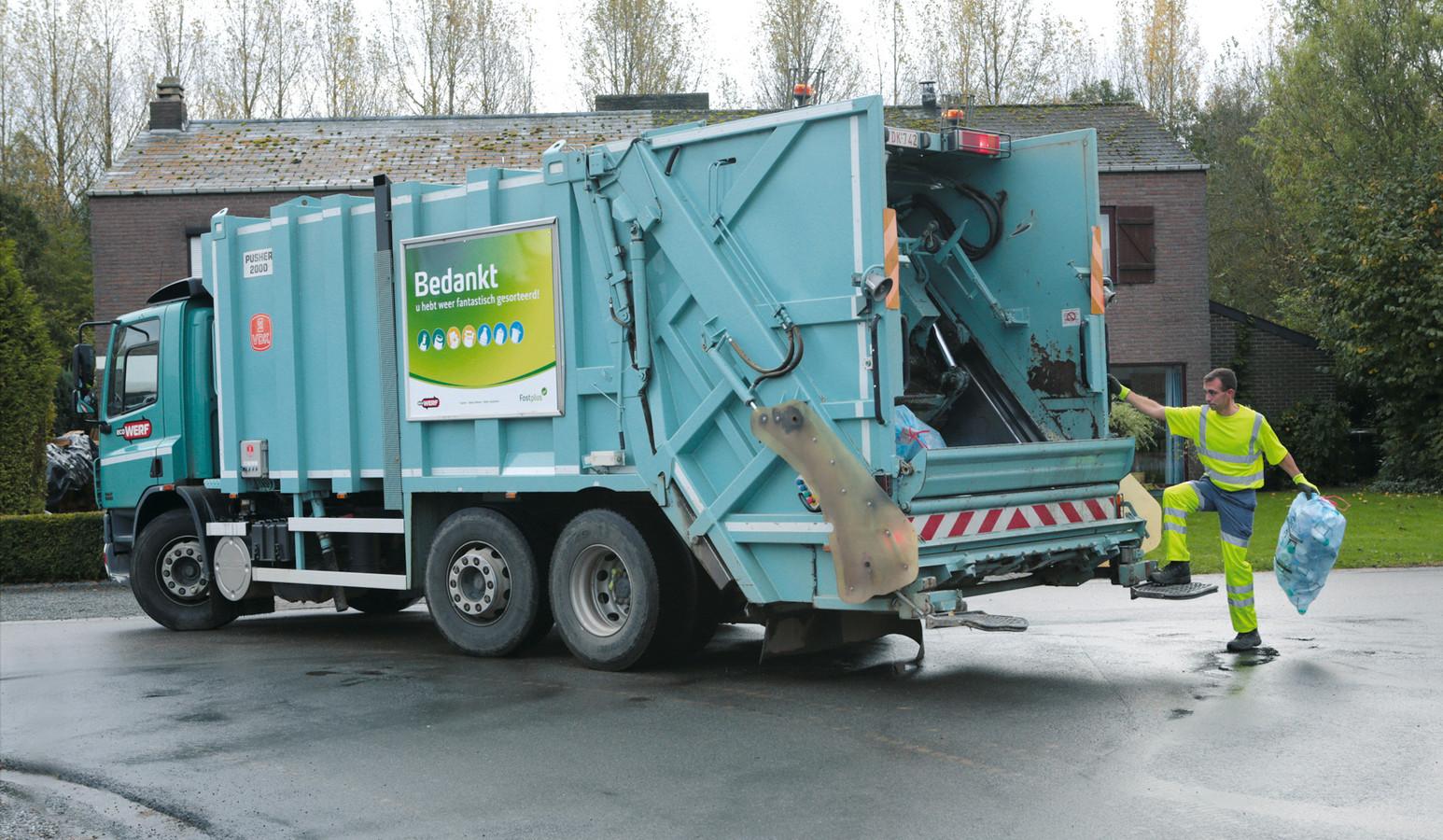 Ecowerf haalt in maar liefst 23 van de 27 steden en gemeenten in de regio het huisvuil op.