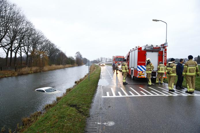 Ongeval bij het Apeldoorns Kanaal bij Oene.