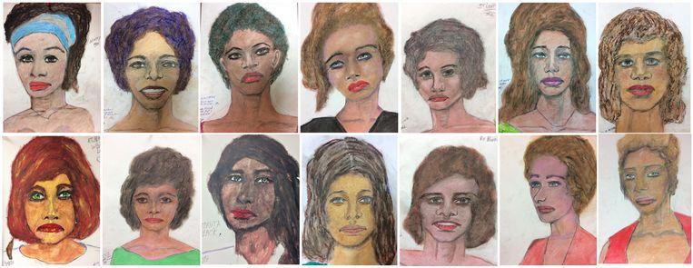 Samuel Little maakte schetsen van zijn slachtoffers. De FBI hoopt op basis van de tekeningen de vrouwen te kunnen identificeren. Beeld EPA