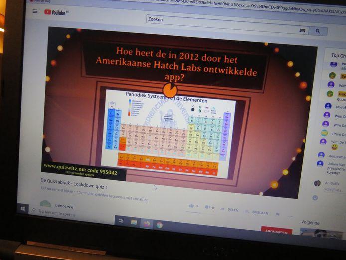 Online quizzen met de Quizfabriek.