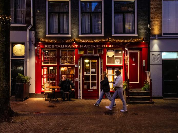 Restaurant Haesje Claes aan de Spuistraat.