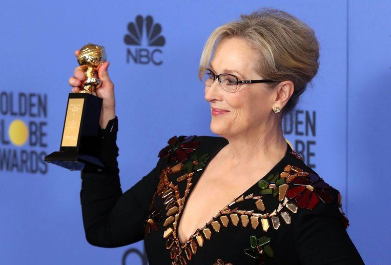 Actrice Meryl Streep op een eerdere editie van de Golden Globe Awards. Beeld EPA