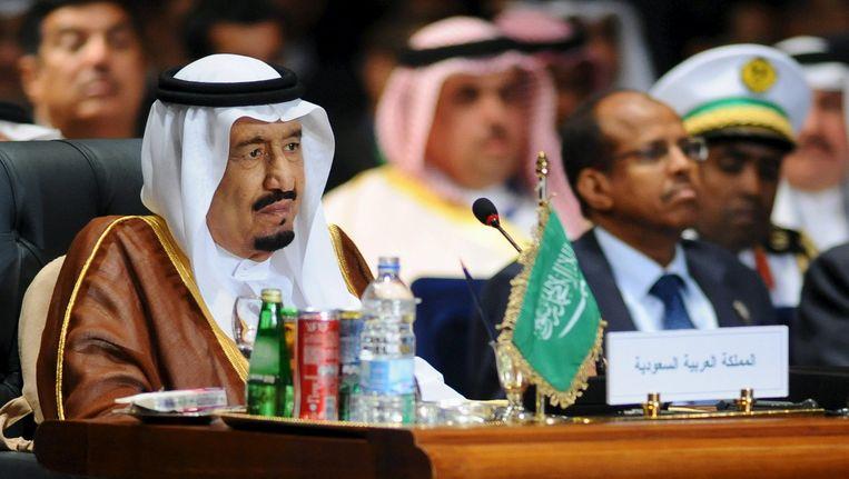 De Saoedische koning Salman op de top in Egypte. Beeld reuters