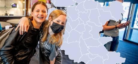 KAART | Bijzonder! Oost-Nederland kleurt volledig 'grijs' op coronakaart en dat is goed nieuws