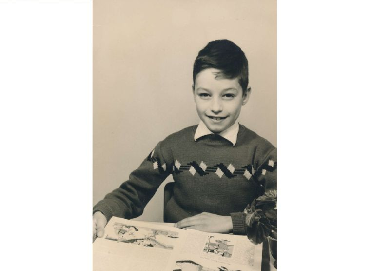 Han van der Linden als jong knaapje. Beeld Privébezit