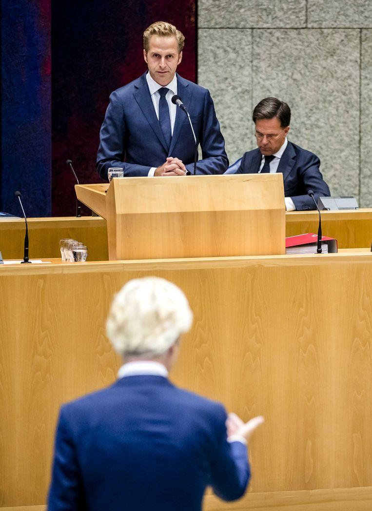 Wilders deed persoonlijke aanvallen op  De Jonge. Beeld ANP