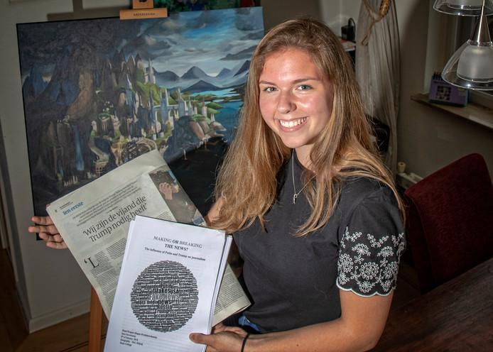 Sara Haverkamp heeft met haar werkstuk 'Making of breaking the news?' een award gewonnen.