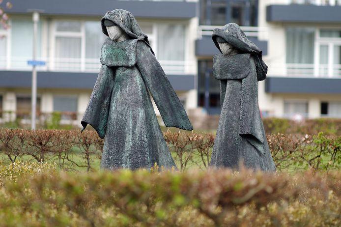 Kunstwerk ter nagedachtenis aan de Zusters van Julie Postel in Losser.