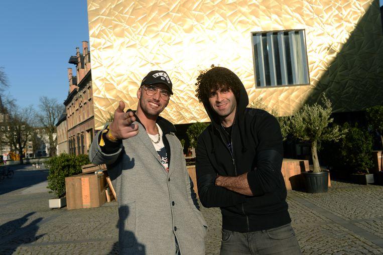 Adil El Arbi en Bilall Fallah zijn momenteel hip in Hollywood, maar vergeten België niet.  Beeld I&C