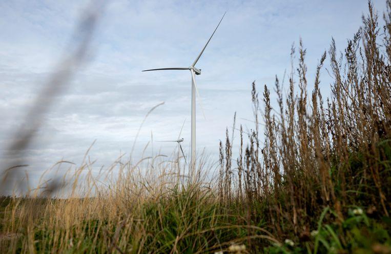 Windmolens op windpark Wieringermeer. Het park bestaat uit 82 windmolens en wekt voldoende elektriciteit op om 370.000 huishoudens van groene stroom te voorzien. Beeld ANP