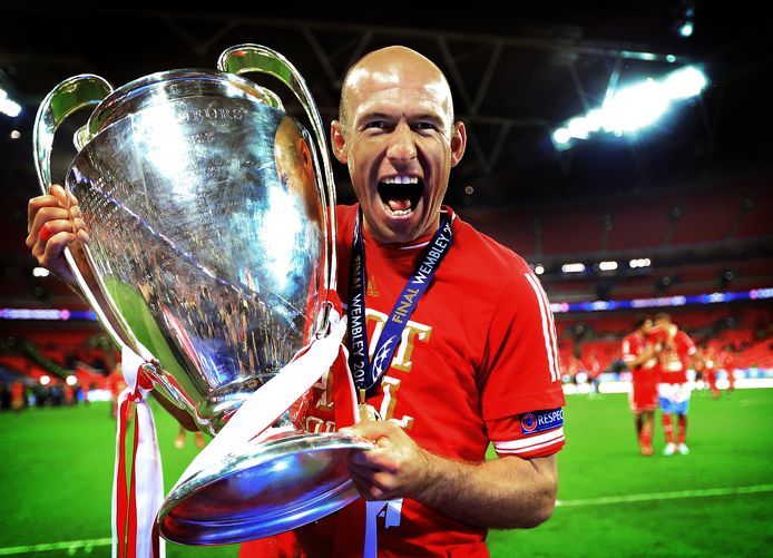 Arjen Robben won in 2013 de Champions League met Bayern München.