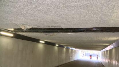 Plafond van nieuwe fietstunnel komt al naar beneden