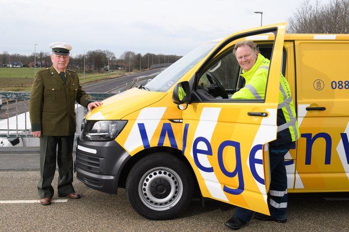 Gerrit en Edwin Edel, vader en zoon en samen goed voor vijftig jaar geschiedenis van de Wegenwacht in Twente.
