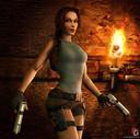 Lara Croft in Tombraider. Twee mijlpalen: de komst van de eerste videogameheldin (Lara Croft) en de uitgroei van 'transmediafranchises', met ook animatiereeksen en verzamelplaatjes (Pokémon)