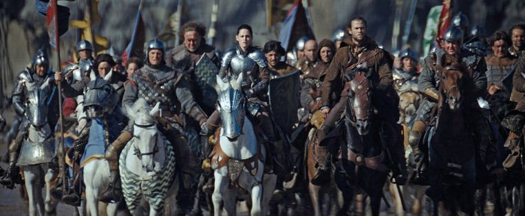 Kristen te paard in 'Snow White and the Huntsman'.