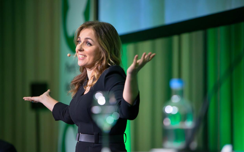 Marianne Thieme, tijdens haar afscheid op het congres van de Partij voor de Dieren.