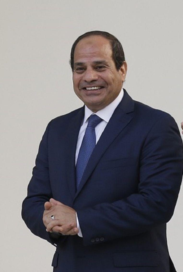 De Egyptische president Abdel-Fattah el-Sisi. Beeld ap
