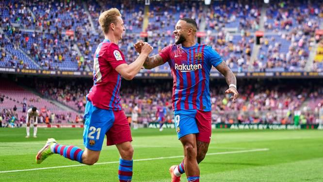 Memphis en De Jong helpen Barcelona aan zwaarbevochten zege op Getafe