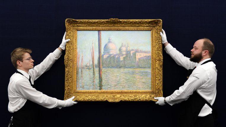 Het schilderij Le Grand Canal van de Franse impressionist Claude Monet. Beeld EPA