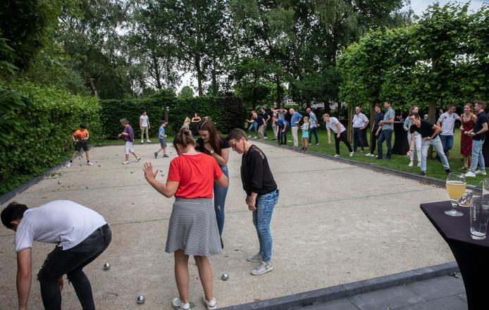De nieuwe Jeu-de-boulesbaan bij de Strabrechtse Hoeve in Mierlo.