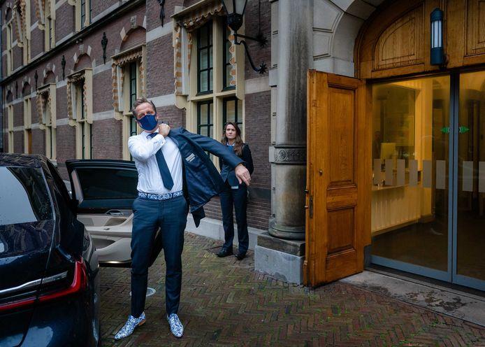 Minister Hugo de Jonge (Volksgezondheid) op het Binnenhof.