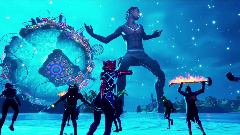 'Fortnite'-spelers konden onlangs een virtueel concert van rapper Travis Scott bijwonen.  Beeld