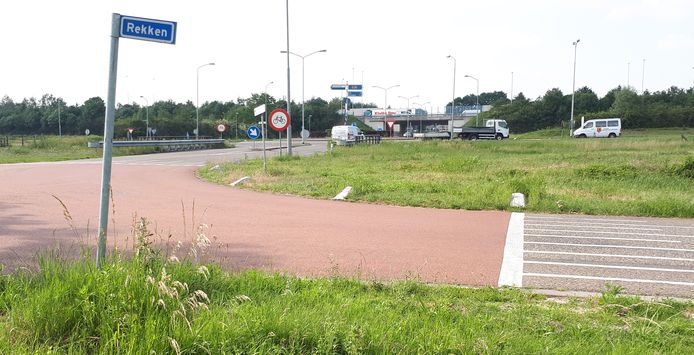 Een van de drie rotondes in Nuland, de kern vreest dat er verkeersoverlast ontstaat door de komst van Heesch West.