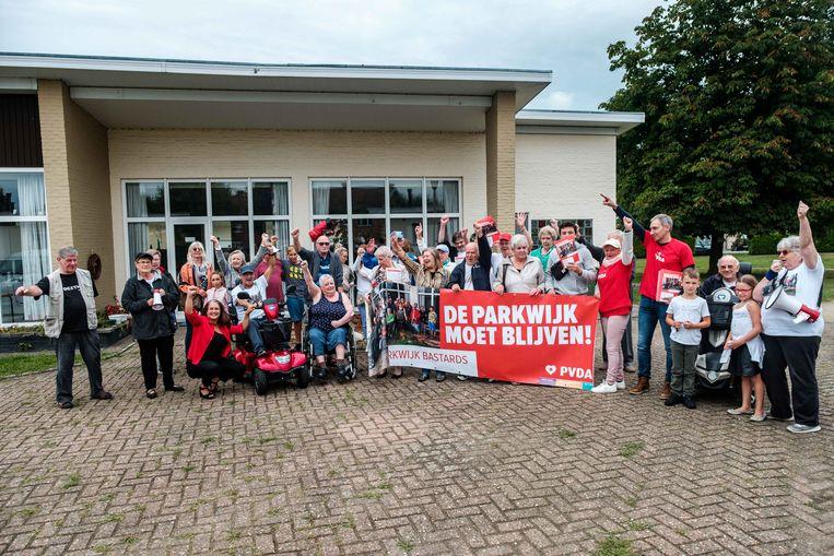 De bewoners van de Parkwijk voerden eerder al een protestactie tegen de verhuis.