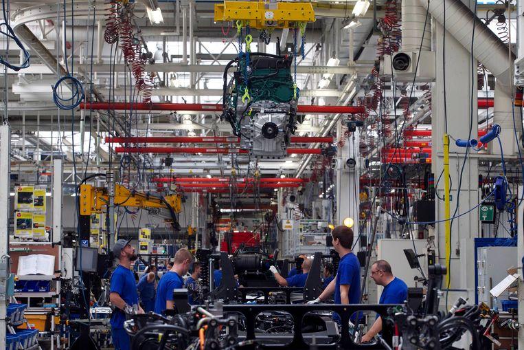 De fabriek van Volvo Trucks in Gent. Beeld BELGA