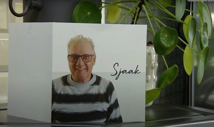 Rouwkaart van ome Sjaak.